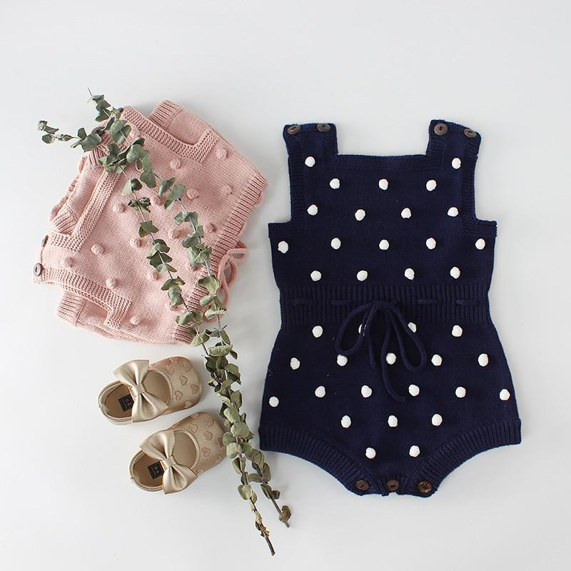 Krystle Knitted Designer Sleeveless Romper  Mollycoddle Me Baby Girl Rompers mollycoddle-me.myshopify.com Mollycoddle Me