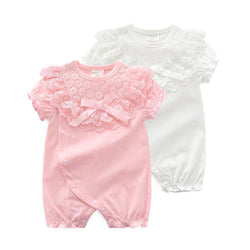 Imogen Lace BowKnot Rompers  Mollycoddle Me Baby Girl Rompers mollycoddle-me.myshopify.com Mollycoddle Me