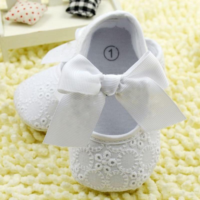 White Bowknot Baby Girl Lace Shoes  Mollycoddle Me Baby Girl Shoes mollycoddle-me.myshopify.com Mollycoddle Me