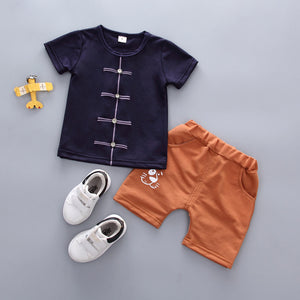 Jake Toddler T-shirt with Pant Navy Blue / 3T Mollycoddle Me Toddler Boy Set mollycoddle-me.myshopify.com Mollycoddle Me