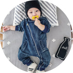 Alvin Hooded Denim Romper 24M Mollycoddle Me Baby Boy Rompers mollycoddle-me.myshopify.com Mollycoddle Me