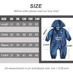 Alvin Hooded Denim Romper  Mollycoddle Me Baby Boy Rompers mollycoddle-me.myshopify.com Mollycoddle Me