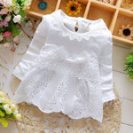 Eleanor Four Leave Grass Lace Dress White / 24M Mollycoddle Me Baby Dresses mollycoddle-me.myshopify.com Mollycoddle Me