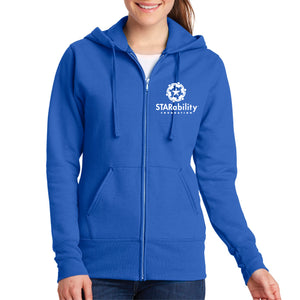 Women's Full Zip Hooded Fleece Sweatshirt (LPC78ZH)