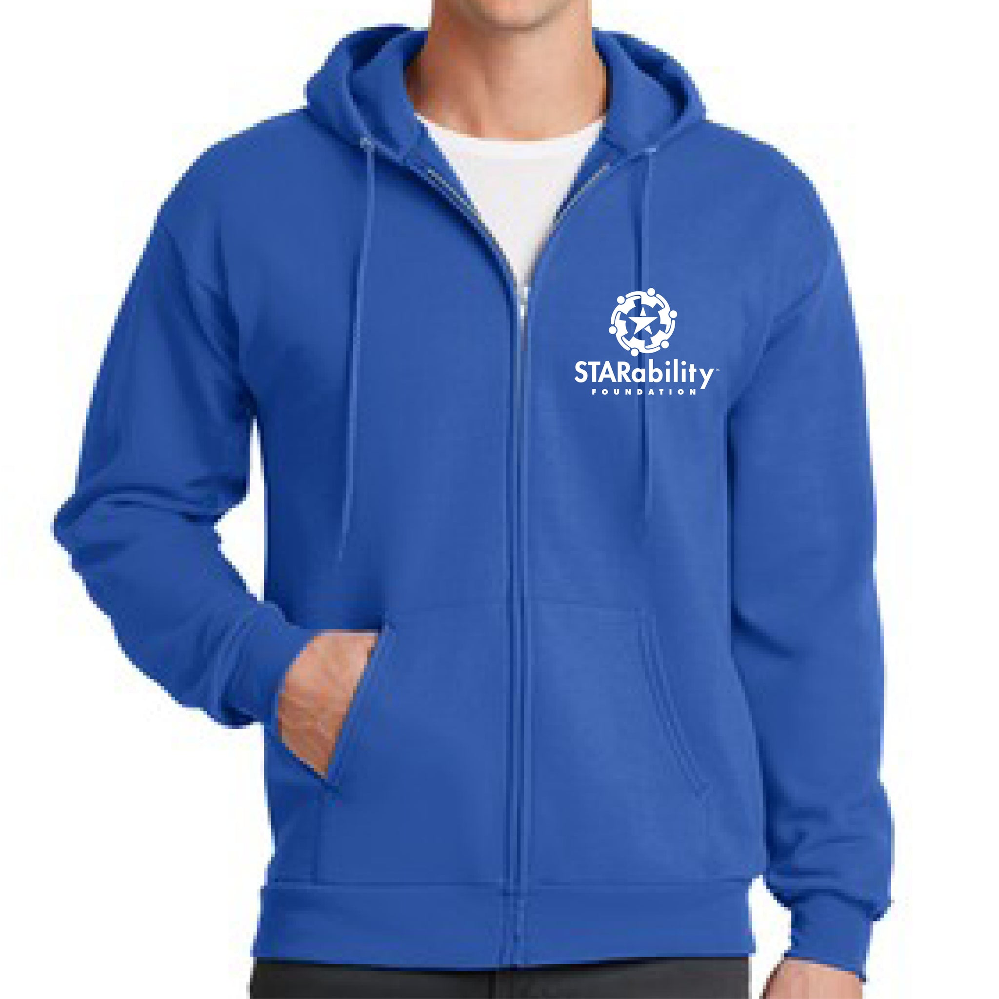 Men's Full Zip Hooded Fleece Sweatshirt (PC78ZH)
