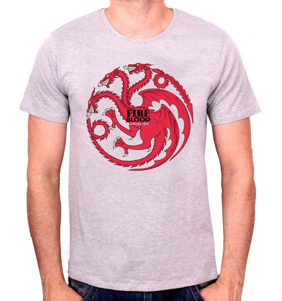 Tee shirt Homme Game Of Thrones - Targayen Fire And Blood