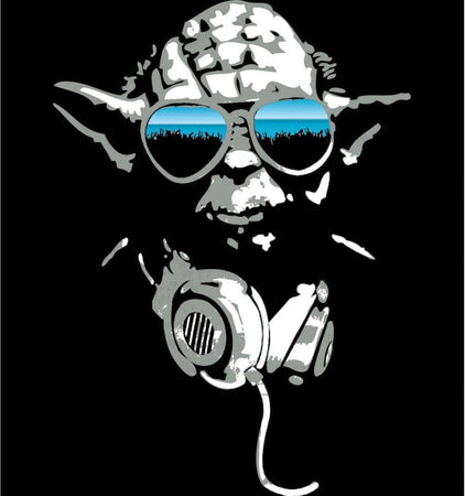 tee-shirt Star Wars - DJ Yoda