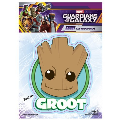 Groot Cute Head Logo Car Window Decal 6x8