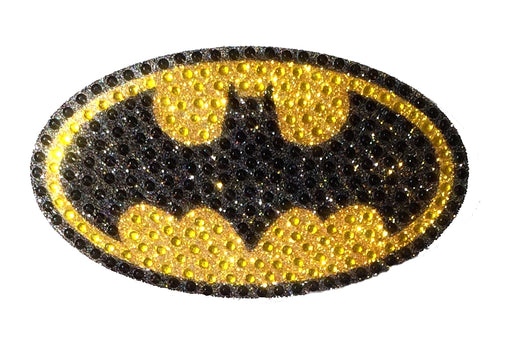 Crystal Studded DC Comics Batman Logo Decal - MEDIUM