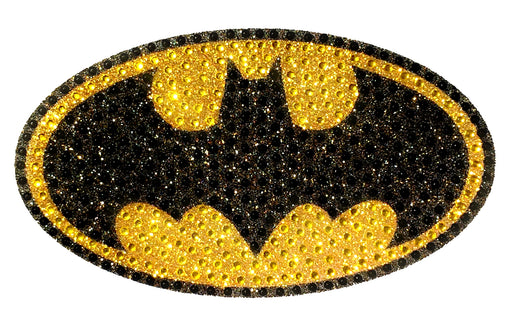 Crystal Studded DC Comics Batman Logo Decal - LARGE