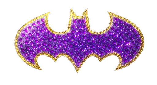 Crystal Studded DC Comics Batgirl Logo Decal - MEDIUM