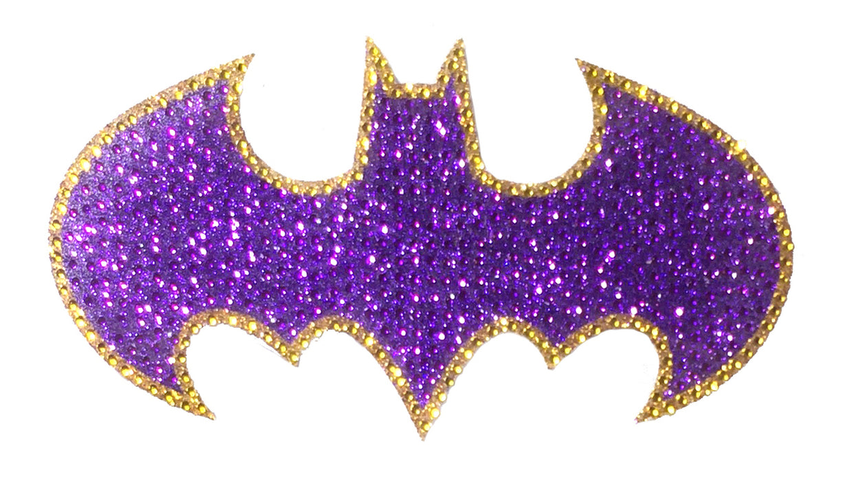 Crystal Studded DC Comics Batgirl Logo Decal - LARGE