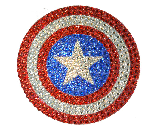 Captain America Shield Crystal Decal