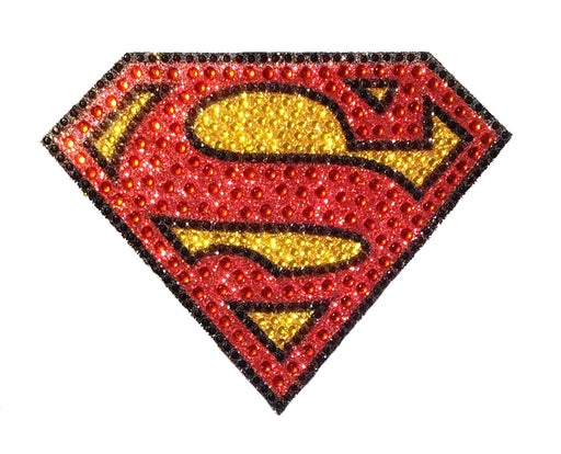 Crystal Studded DC Comics Superman Logo Window Sticker Decal - MEDIUM