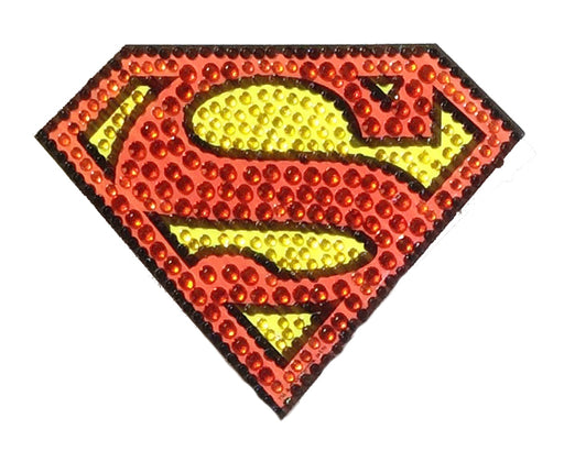 Crystal Studded DC Comics Superman Logo Decal - SMALL