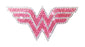 Crystal Studded DC Comics Wonder Woman Pink Logo Decal - MEDIUM