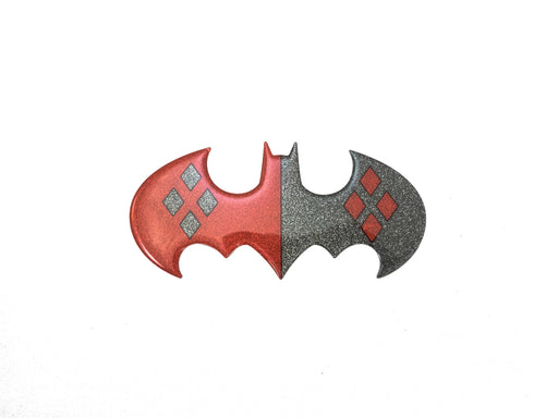DC Comic Glitter Harley Batman Logo Decal