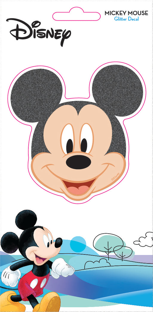 Disney Classic Mickey Mouse Face 4x8 Glitter Decal