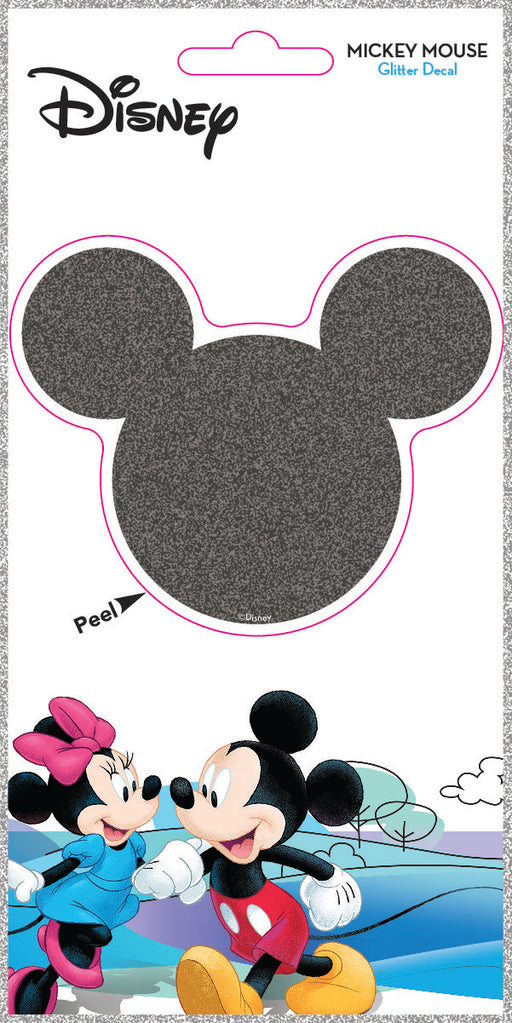 Mickey Head Silhouette 4x8 Glitter Decal