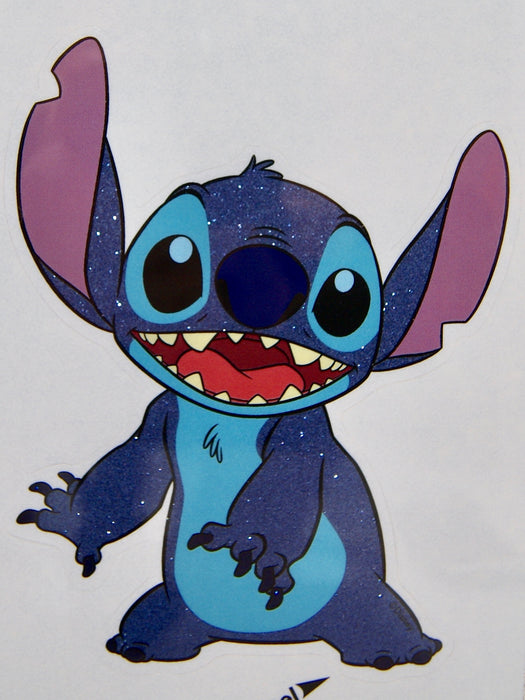"Lilo and Stitch ""Stitch"" 4x8 Glitter Decal"