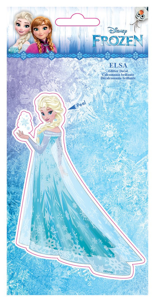 Disney Queen Elsa 4x8 Glitter Decal