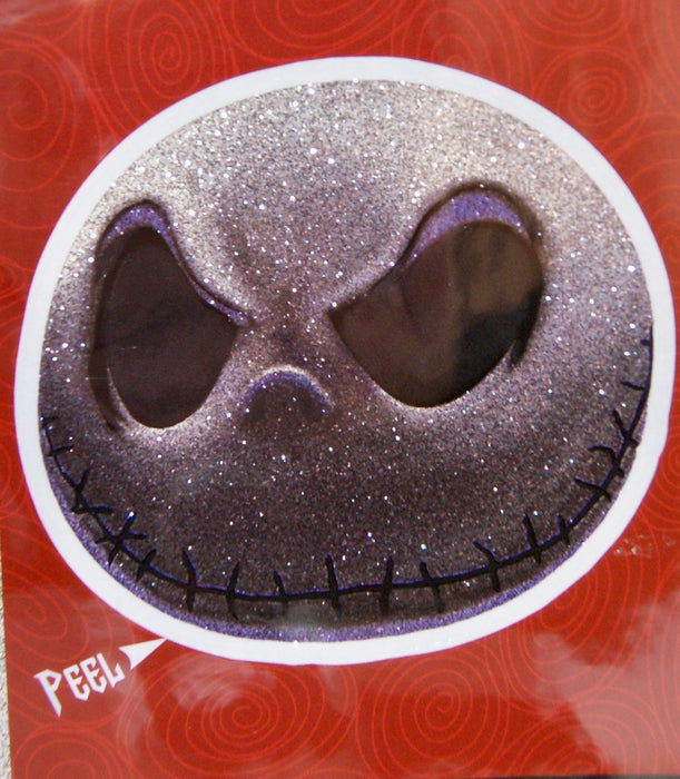 Nightmare Before Christmas Jack's Face 4x8 Glitter Decal