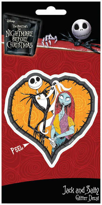 Nightmare Before Christmas Jack & Sally 4x8 Glitter Decal