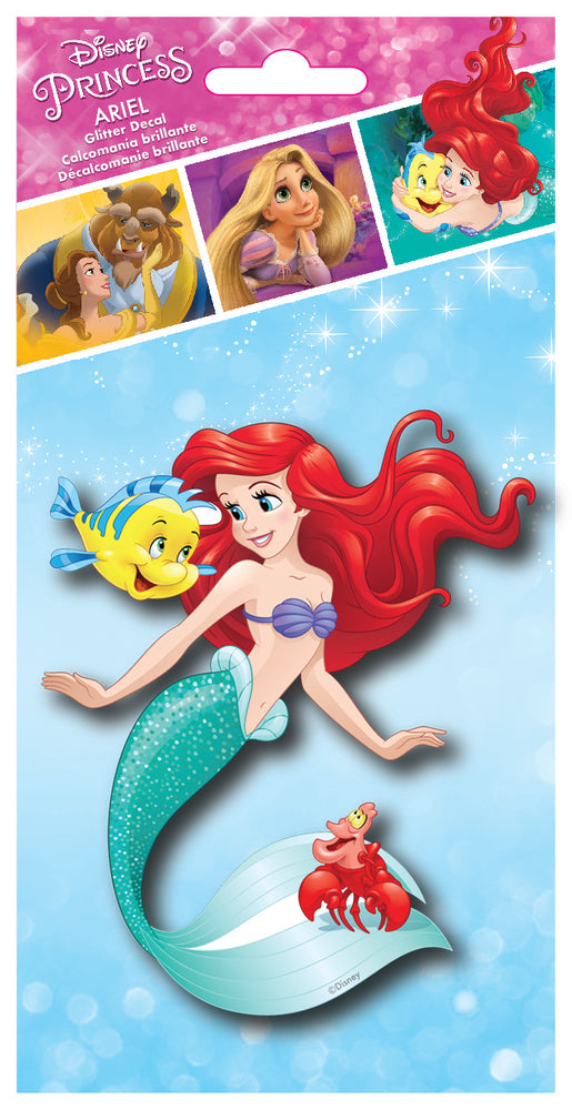 Disney Princess Ariel 4x8 Tri-language Glitter Decal