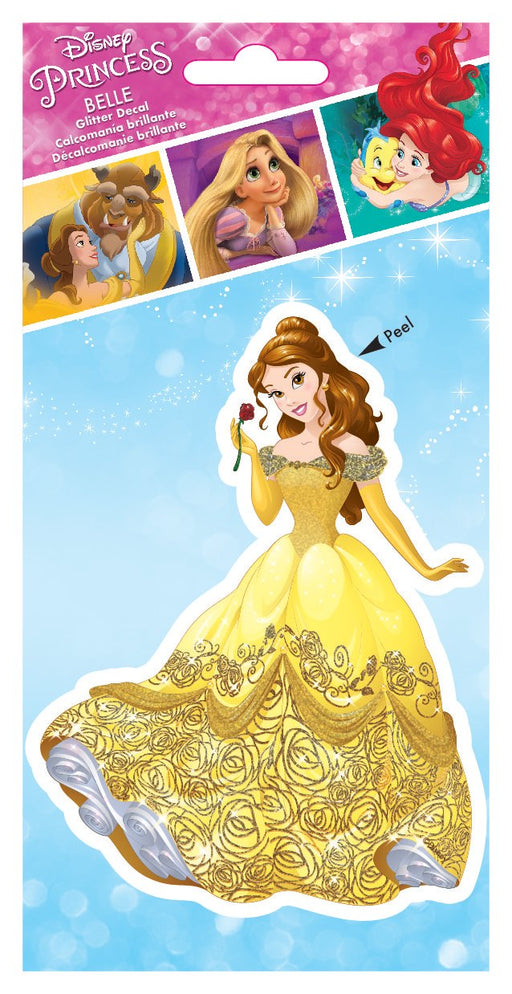 "Disney Princess Belle 4""x8"" Tri-language Glitter Decal"