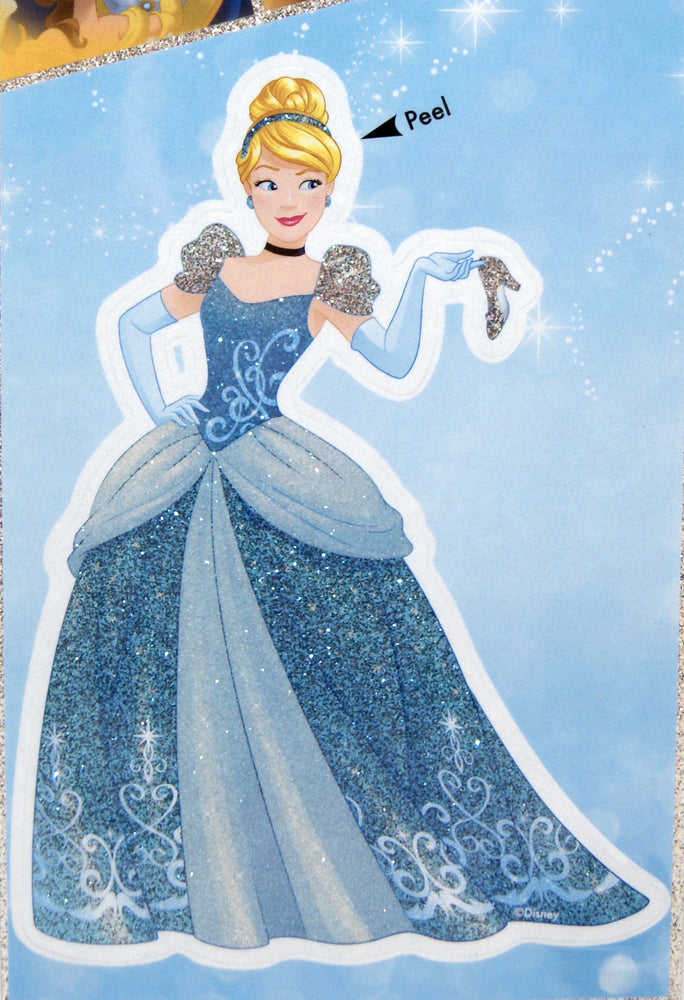 Disney Princess Cinderella 4x8 Tri-language Glitter Decal
