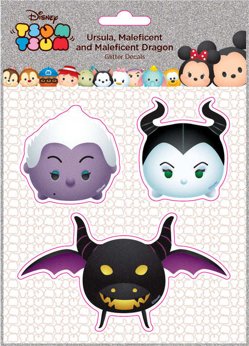 Disney Ursula, Maleficent and Maleficent Dragon  Glitter Decal