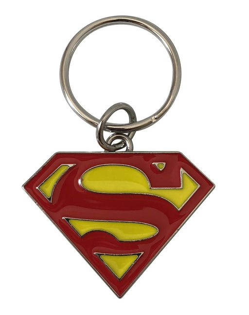 Superman Logo Metal Keychain