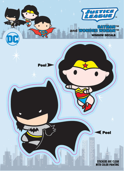 DC Comics Chibi Justice League Batman & Wonder Woman Duo Car Window Decal