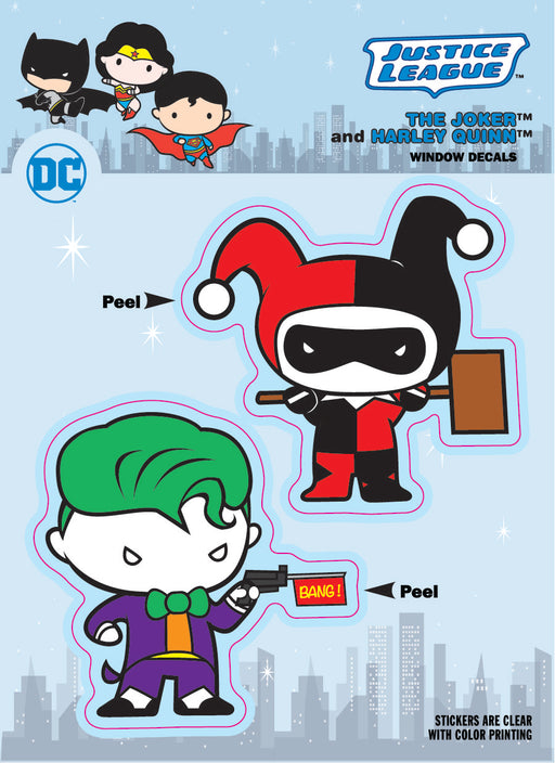 DC Comics Chibi Justice League Joker & Harley Quinn Duo Car Window Decal