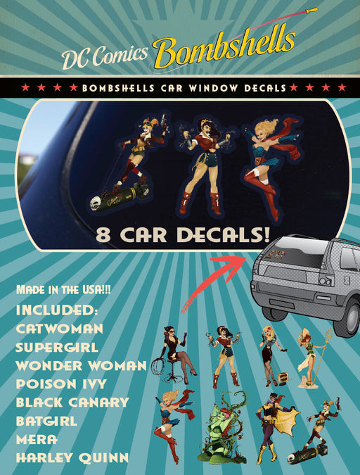 DC Comics Bombshells Family Pack Car Window Sticker Decals