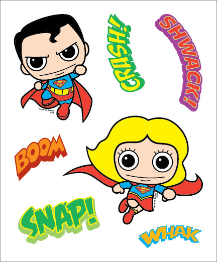 DC Comics Family Kids Decal Pack