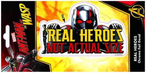 Ant Man & Wasp Real Heroes Foil 4x8 Decal