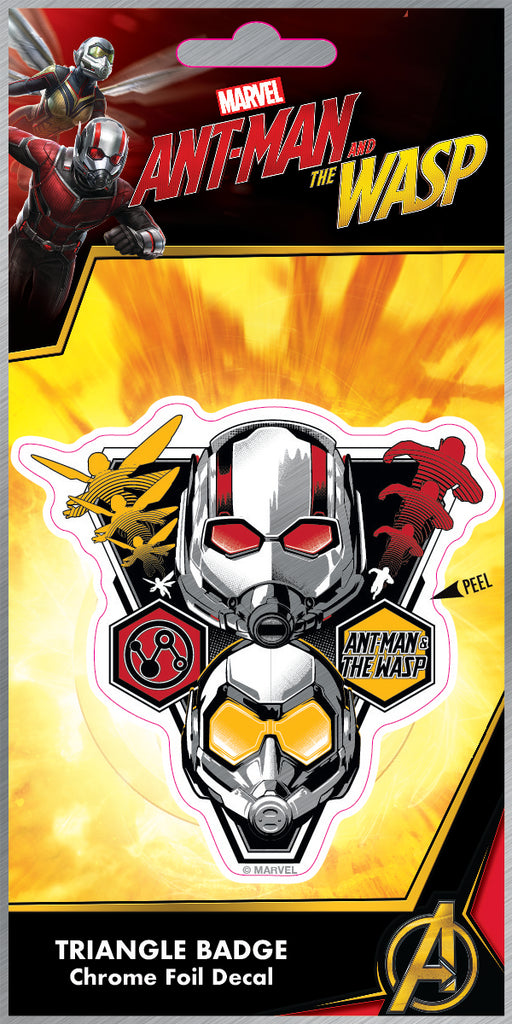 Ant Man & Wasp Triangle Badge Foil 4x8 Decal