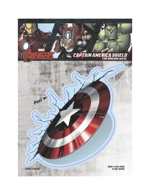 Captain America Thrown Shield Car Window Decal 6x8