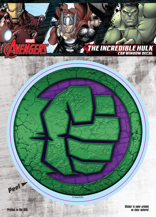 The Hulk Fist Logo Car Window Decal 6x8