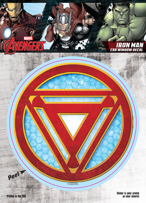 Iron Man Reactor Logo Car Window Decal 6x8