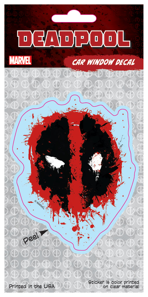 Deadpool 4x8 Splatter Logo Car Window Decal