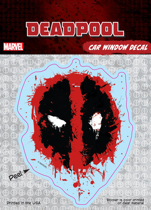 Deadpool Splatter Logo Car Window Decal 6x8