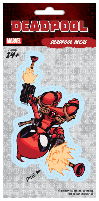 Scottie Young Deadpool Plunger 4x8 Decal