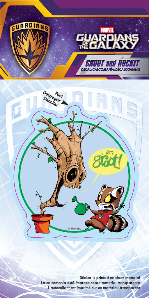 Groot and Rocket Skottie Young 4x8 Decal Sticker