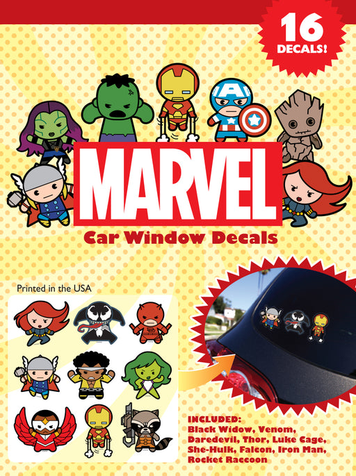 Marvel Kawaii Car Window Decal Pack #1