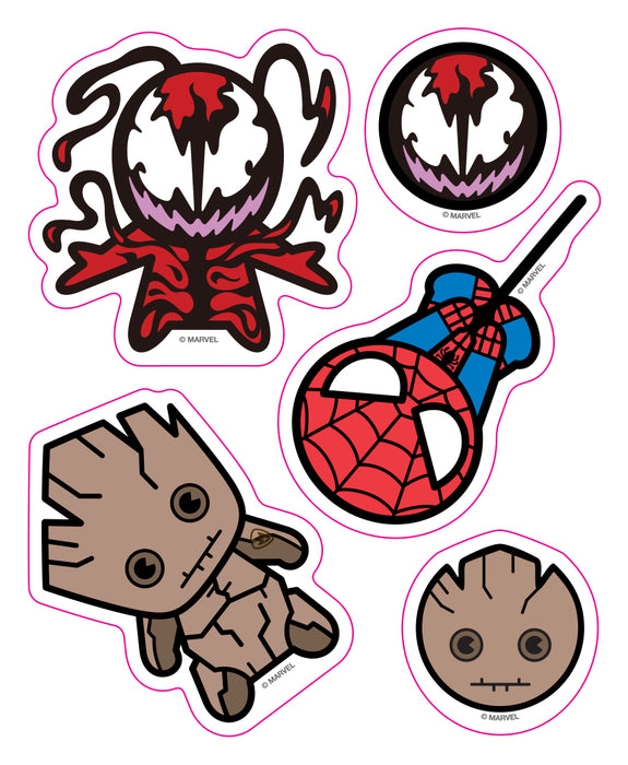 Marvel Kawaii Car Window Decal Pack #2