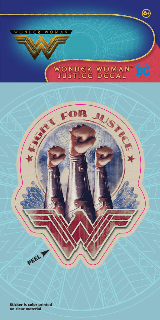 "Wonder Woman Movie ""Fight for Justice"" 4x8 Decal"