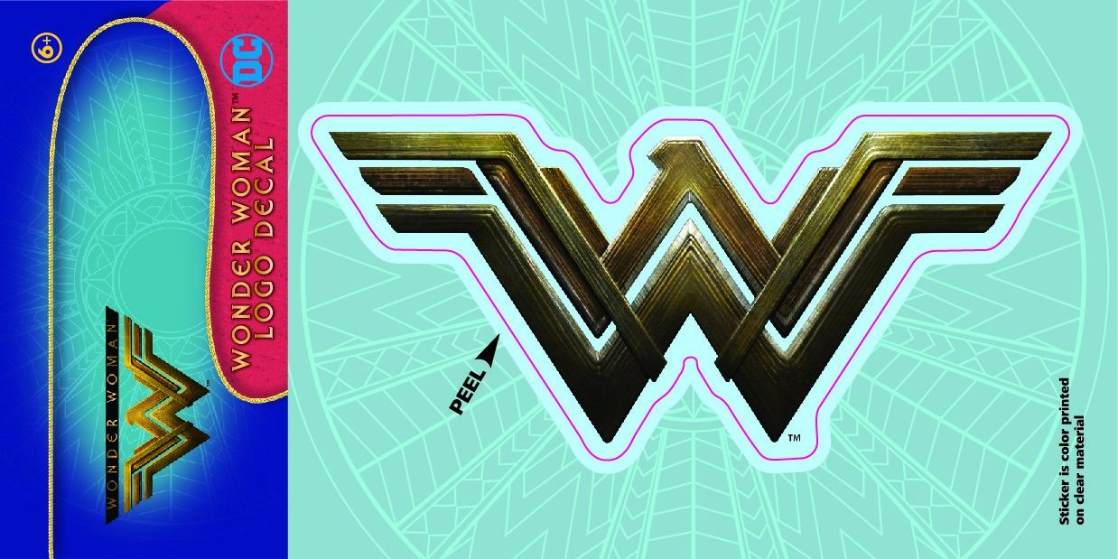 Wonder Woman Movie Logo 4x8 Decal