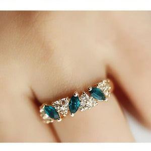 Hot Sales fashion Vintage created gemstone Crystal ring for Women Jewelry--CRYSTAL SHOP